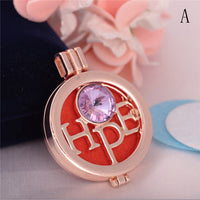 1pcs Aroma Diffuser Necklace Open Vintage Locket Pendants Perfume Essential Oil Aromatherapy Locket Sweater Necklaces With 3Pads