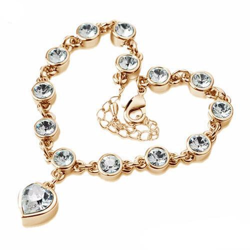 Fashion heart Crystal  bracelets & bangles