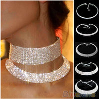 Bluelans Hot Sale New Women Crystal Rhinestone Collar Necklace Choker Necklaces Wedding Birthday Jewelry 008Q