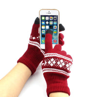 FEITONG Winter Soft 3 Colors Gloves Mens Touched Screen Glove Women Texting Capacitive Smartphone Stretchy Windproof Mittens