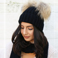 Woman Winter Hat Knitted Cute Fur Pompom Double Ball Autumn Women's Hats Skullies Beanies Female Bonnet Femme Gorros Caps #906