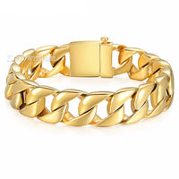 Heavy Stainless Steel Gold Chain Curb Link