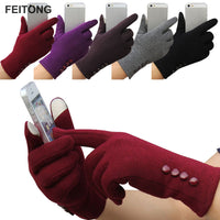 2017 Fashion Women Winter Gloves Female Ladies Girls Cotton Glove Outdoor Warm  Full Finger Gloves #YW
