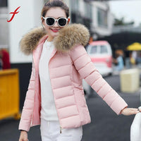 2017 New Fashion Women Winter Coat Light Down Hooded Jackets Long Sleeve Warm Slim Coat Parka Female Solid Portabl Outwear
