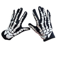 2017 Halloween Horror Skull Claw Bone Skeleton Goth Full Finger Warm Gloves Good Quality Mittens Male