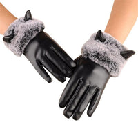2017 new style Fashion Women Winter Warm Soft Touchscreen Texting Driving Gloves Mitten PU Material lace gloves Vicky