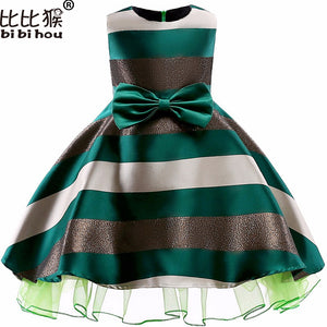Autumn Infant Baby Girls Gold velvet Dress Kids  Sleeveness Retro Dress Princess  Dresses 3-9yrs