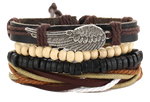 """Turkish Wing"" Leather Bracelet"
