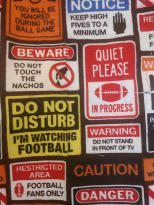 Homemade Face Masks-FOOTBALL WARNINGS