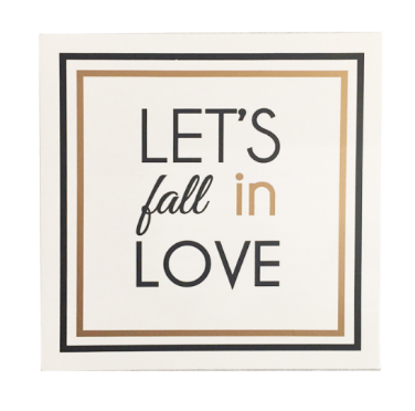 Let's Fall in Love Cuadro de Madera