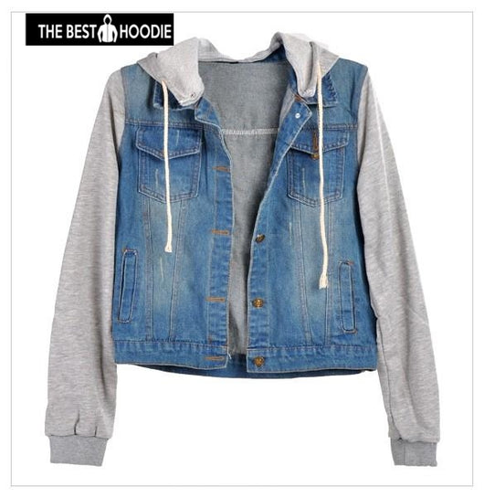 c103e6d266516 Autumn Winter Jacket Women 2018 Casual Denim Jacket Coat Women Hooded Loose Jean  Baseball Bomber Jackets