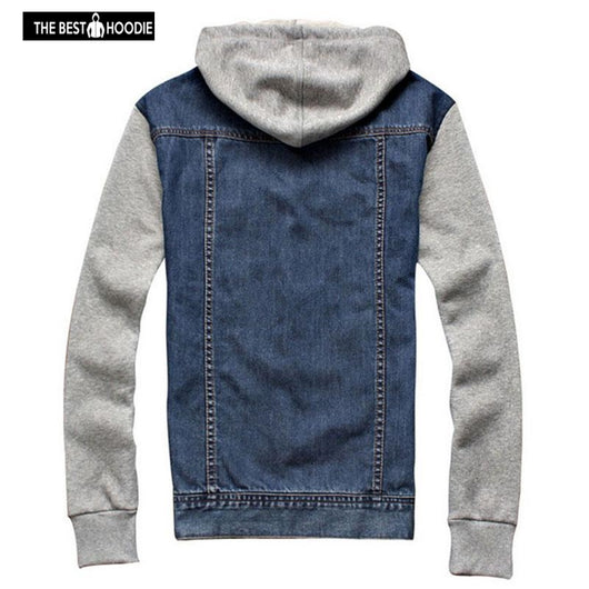 275413b7cec ... Denim Jacket men hooded sportswear Outdoors Casual fashion Jeans  Jackets Hoodies Cowboy Mens Jacket and Coat ...