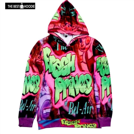 140befd46c17 Mens Printed Hoodies And Sweatshirts 3d Graphic Letter Prince Bel-air Hooded  Pullover Sudaderas Hombre