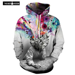 ee9d2a4928f fashion brand 3d Hoodies Sweatshirts Men Women Print Brain opening Thin  Unisex Hooded Tracksuits Pullovers