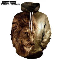 1d8b0ff7ba42 New 2018 Brand Hipster 3D Hoodies Men Hooded Sweatshirts Melted Lion Face 3D  Print Spring Casual