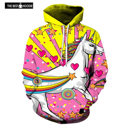 115a9a188a1 Pink Unicorn Printed 3D Hoodies Men Women Brand Sweatshirts Hooded  Tracksuits Novelty Streetwear Male Hooded Pullover
