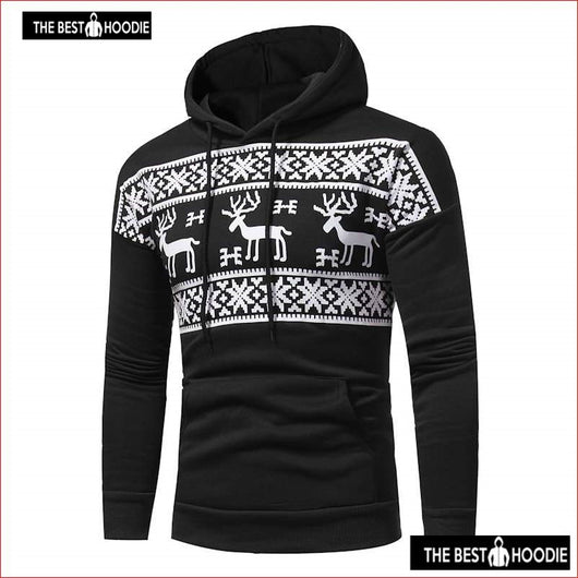 576dd17fb58d Christmas Hoodie Deer Printing Hoodies Red Men Fashion Snowflake Sweatshirt  Hoody Mens Purpose Tour ...