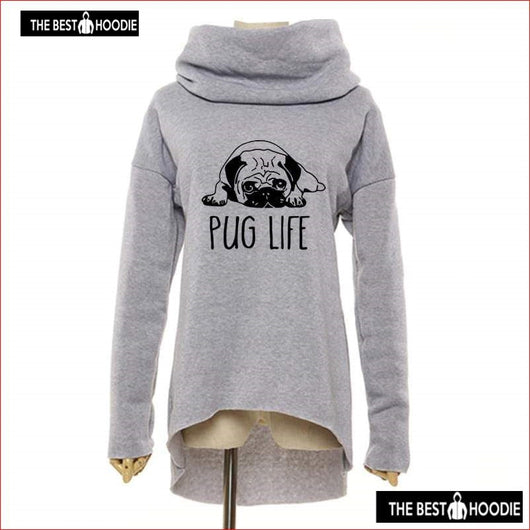 Cute Pug Dog Anime Christmas Clothes 2018 Women Winter Hoodies Scarf ...