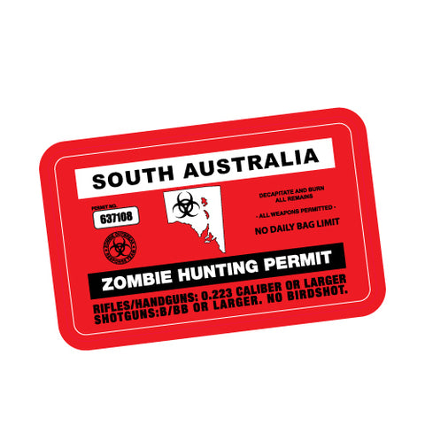 ZOMBIE HUNTING PERMIT SA JDM Sticker Decal