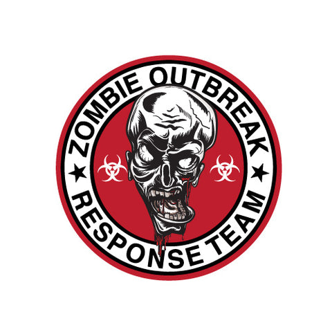 ZOMBIE OUTBREAK RESPONSE TEAM BADGE JDM Sticker Decal