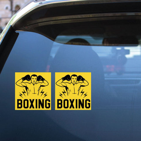 2X Boxing Sport Sticker Decal