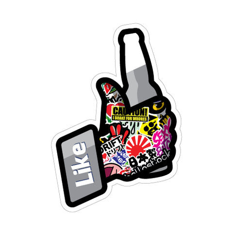 FB LIKE BOMB JDM Sticker Decal