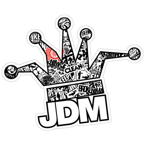 Jdm Clown Crown Bomb B&W Jdm Sticker Decal