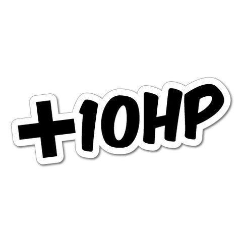 Plus 10Hp Jdm Car Sticker Decal
