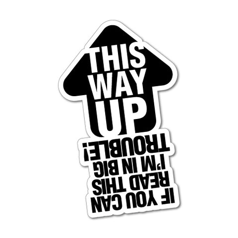 This Way Up Sign Jdm Sticker Decal