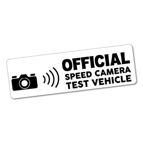 Official Speed Camera Test Jdm Sticker Decal