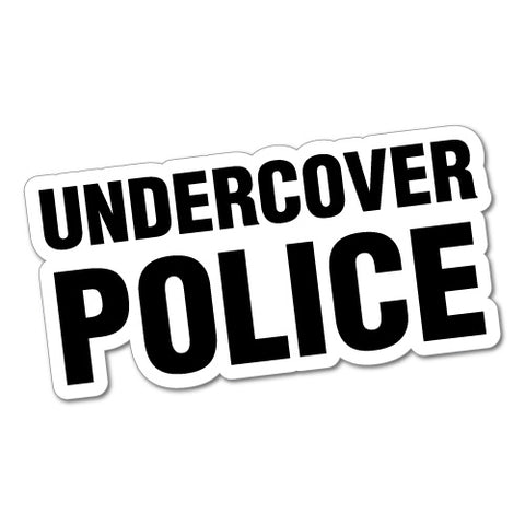 UNDERCOVER POLICE JDM Sticker Decal