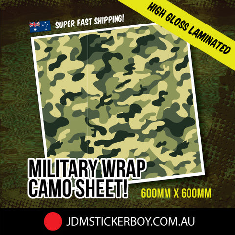 Military Wrap Camo Green 3 600Mm X 600Mm Stickerbomb Wrap