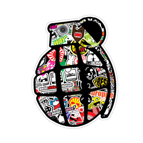 Grenade Sticker Bomb 3 Jdm Sticker Decal