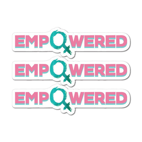 3X Empowered Sticker Decal