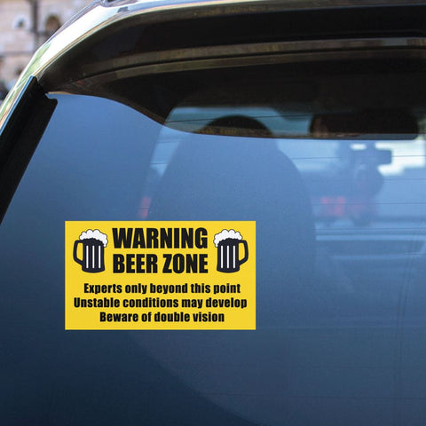 Beer Zone Sticker Decal