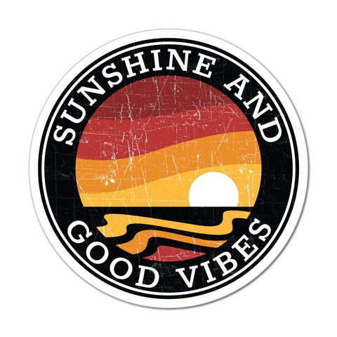 Sunshine And Good Vibes Sticker Decal