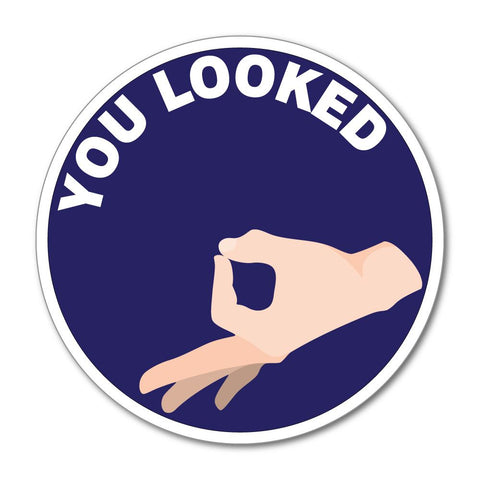 You Looked Funny Prank Car Sticker Decal