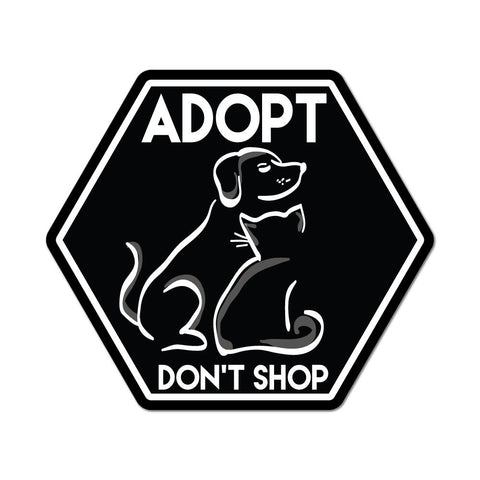 Adopt don't shop pet cat dog animal lover rescue  Car Sticker Decal