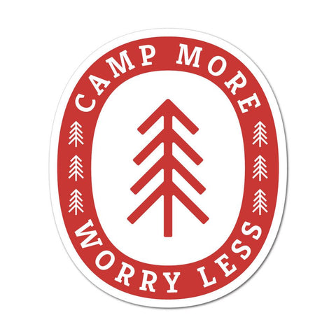 Camp More Worry Less Sticker Decal