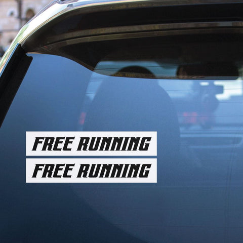 2X Free Running Parkour Sticker Decal