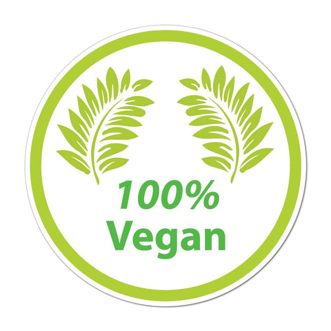 100 Percent Vegan Car Sticker Decal