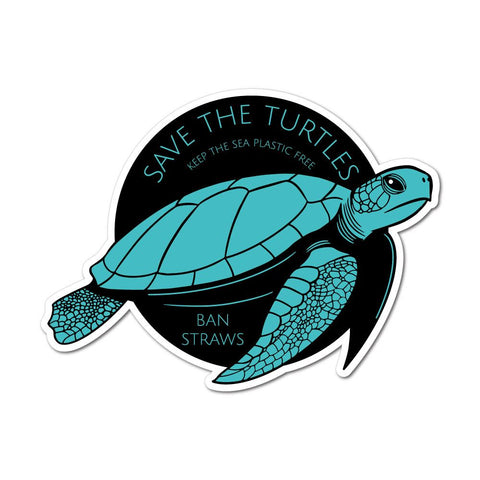 Save The Turtles Keep The Sea Plastic Free Sticker Decal