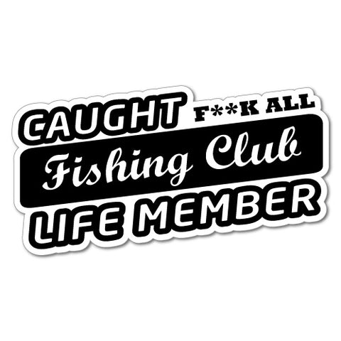 Caught Fishing Club Sticker