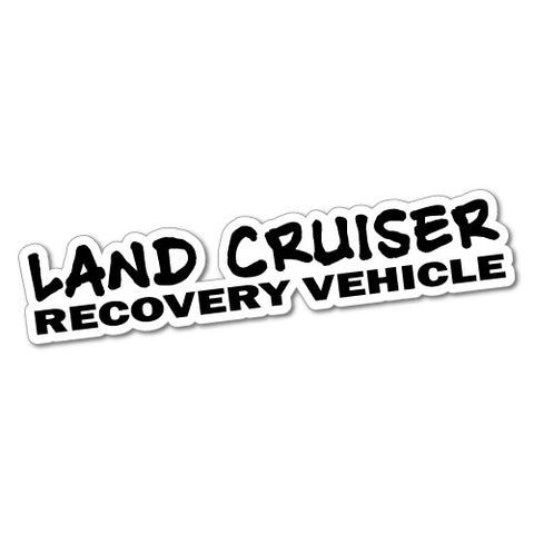 LANDCRUISER RECOVERY VEHICLE Sticker