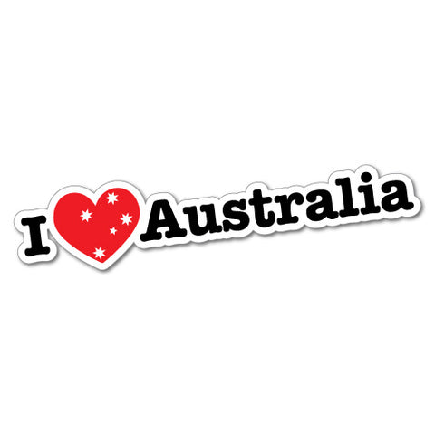 I Heart Australia Sticker