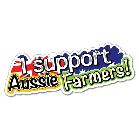 Support Farmers Sticker