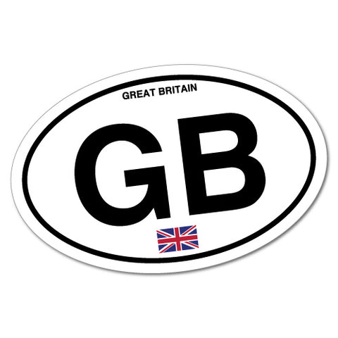 Great Britain Gb Country Code Sticker