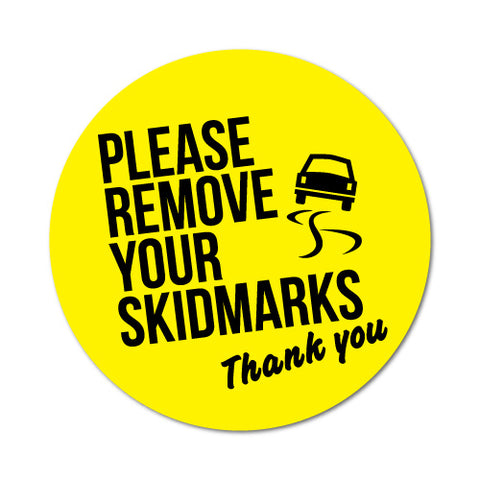 Remove Skidmarks Toilet Rules Sticker