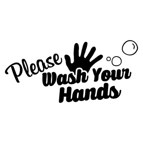 WASH YOUR HANDS KIDS SCHOOL STICKER