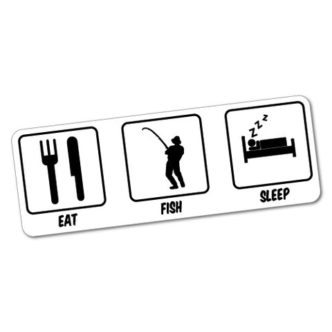 Eat Sleep Fish Sticker